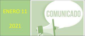 Comunicado (11-01-2021)